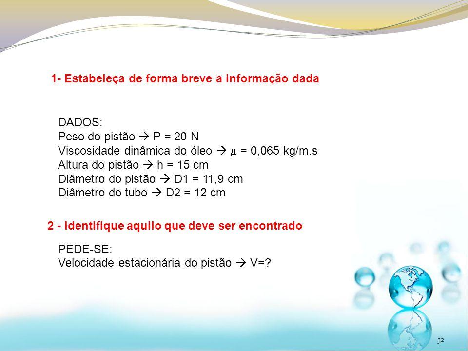 1- Estabeleça de forma breve a informação dada