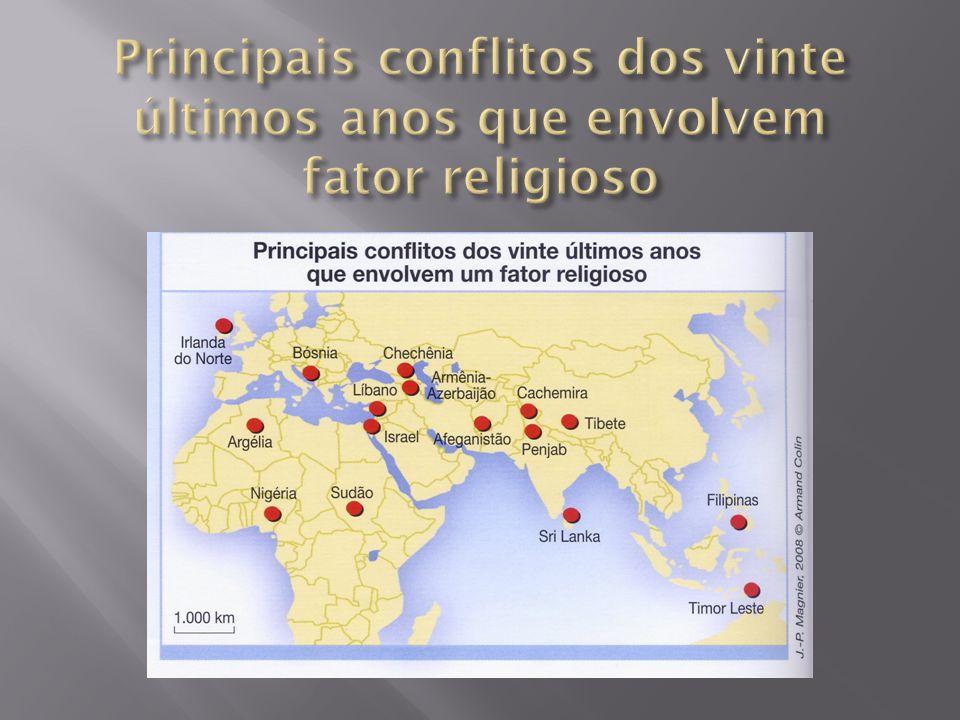 Principais conflitos dos vinte últimos anos que envolvem fator religioso