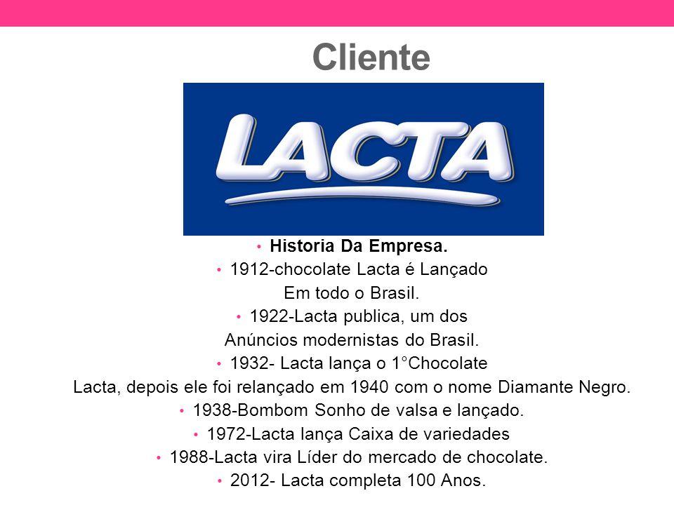 Cliente Historia Da Empresa. 1912-chocolate Lacta é Lançado