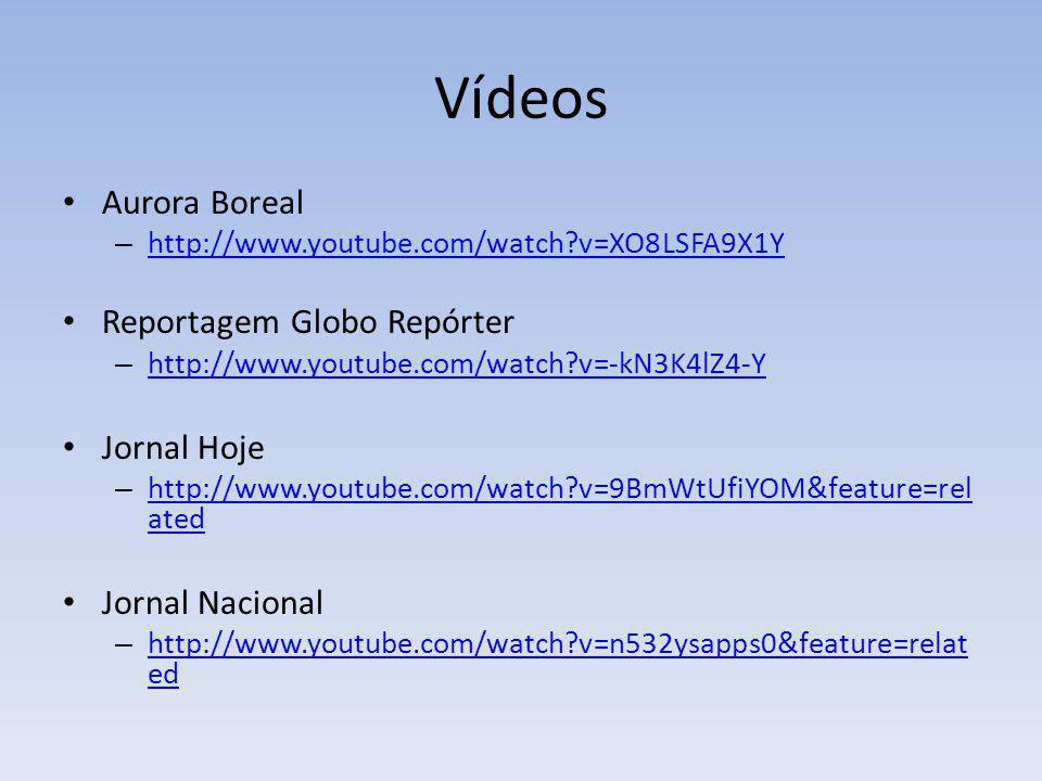 Vídeos Aurora Boreal Reportagem Globo Repórter Jornal Hoje
