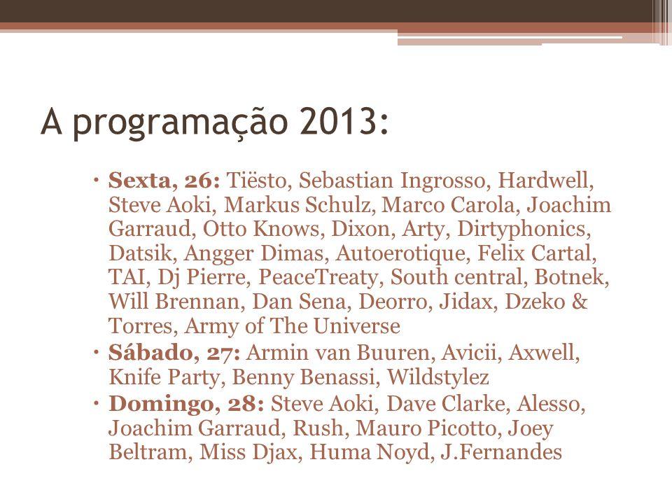 A programação 2013: