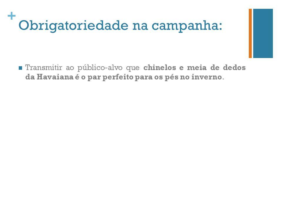 Obrigatoriedade na campanha: