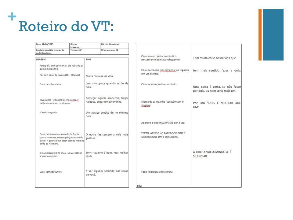Roteiro do VT: