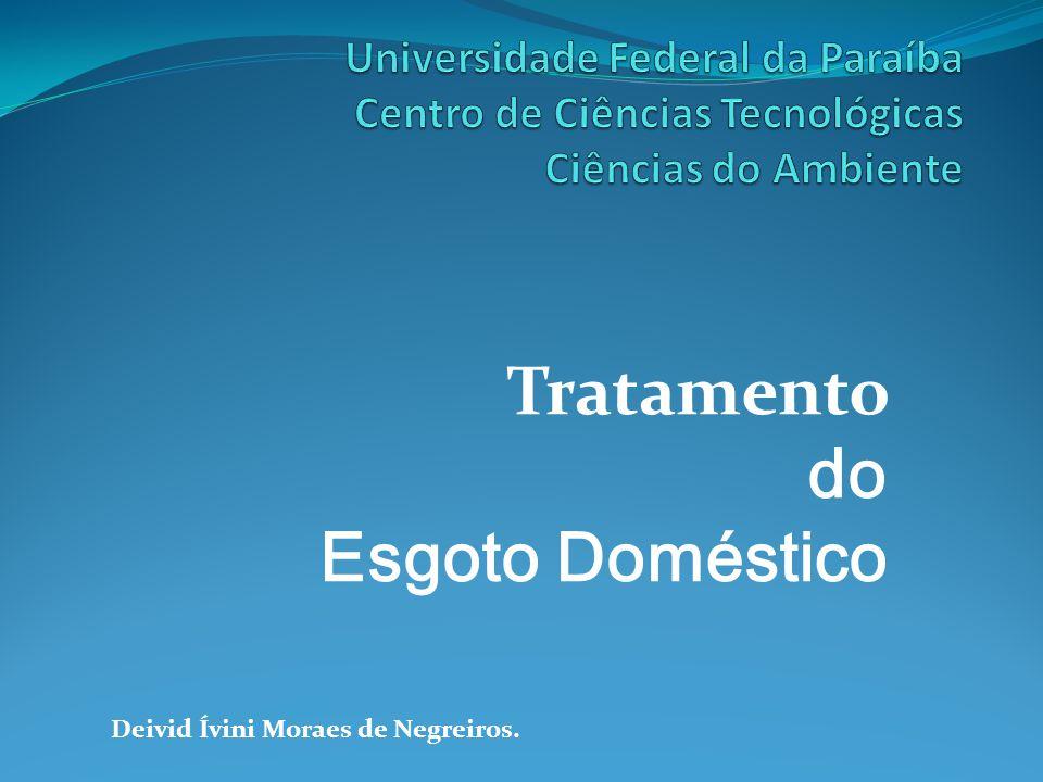 Tratamento do Esgoto Doméstico Deivid Ívini Moraes de Negreiros.