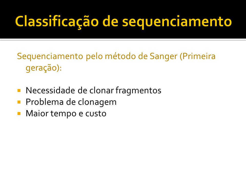 Classificação de sequenciamento