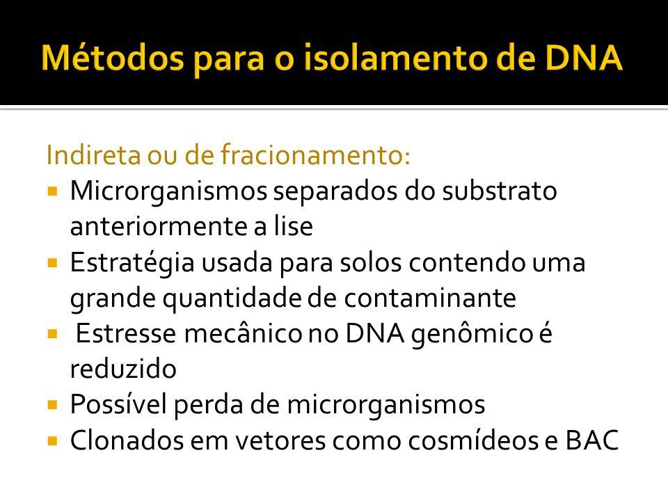 Métodos para o isolamento de DNA