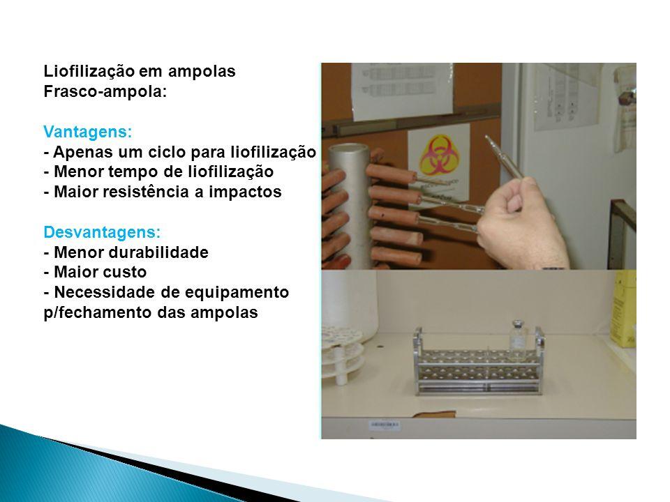 Liofilização em ampolas