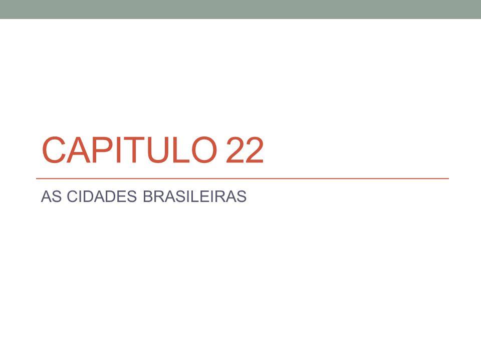 AS CIDADES BRASILEIRAS