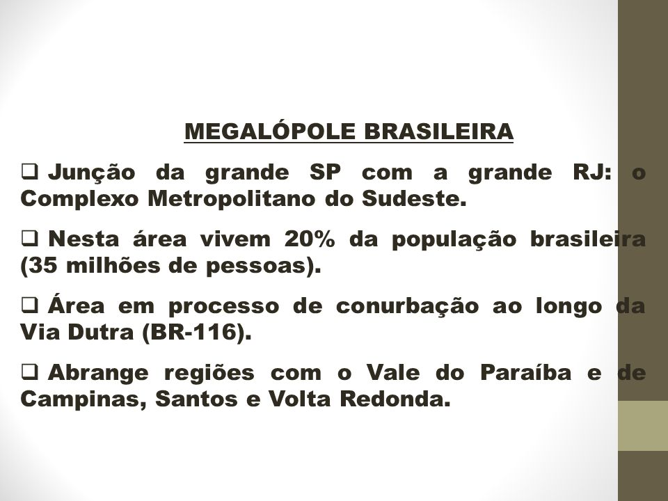 MEGALÓPOLE BRASILEIRA