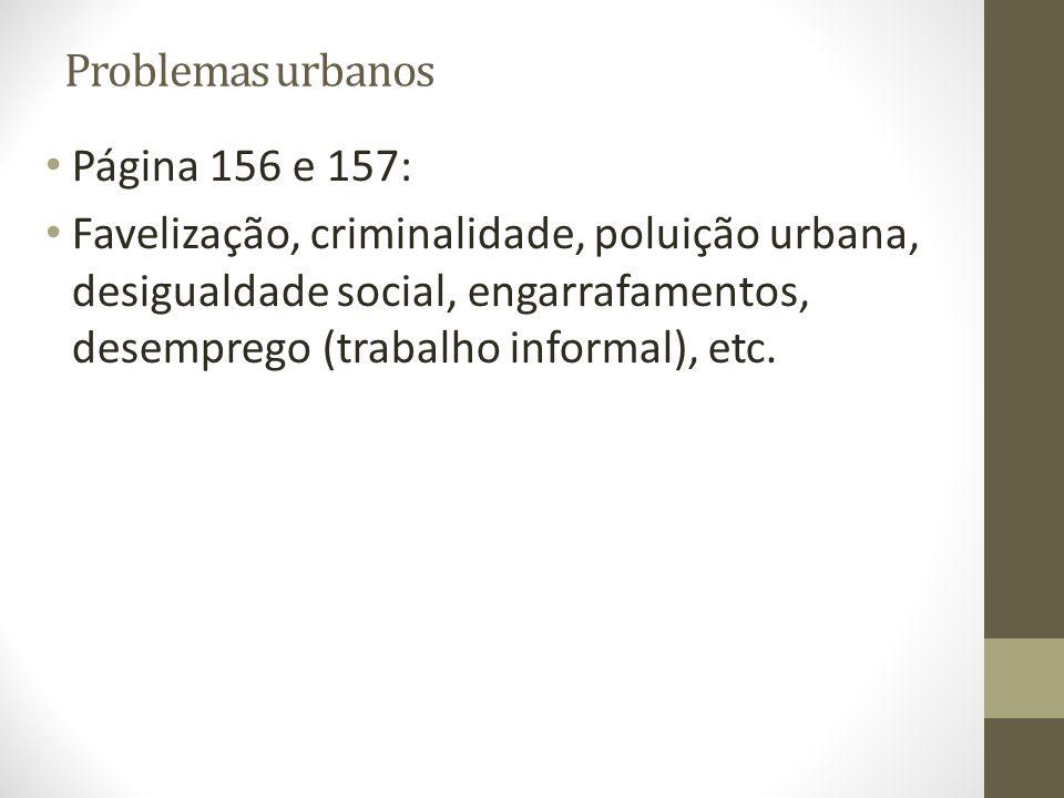 Problemas urbanos Página 156 e 157: