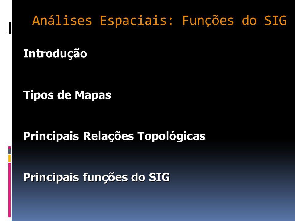 Análises Espaciais: Funções do SIG