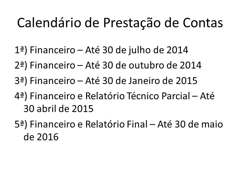 Calendário de Prestação de Contas