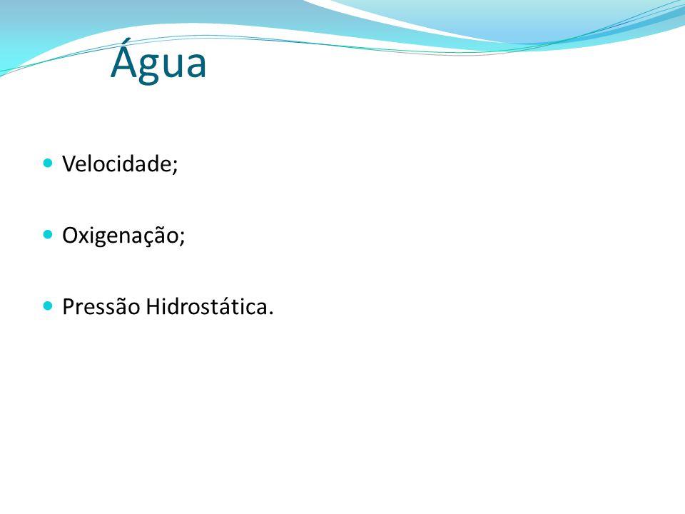 Água Velocidade; Oxigenação; Pressão Hidrostática.