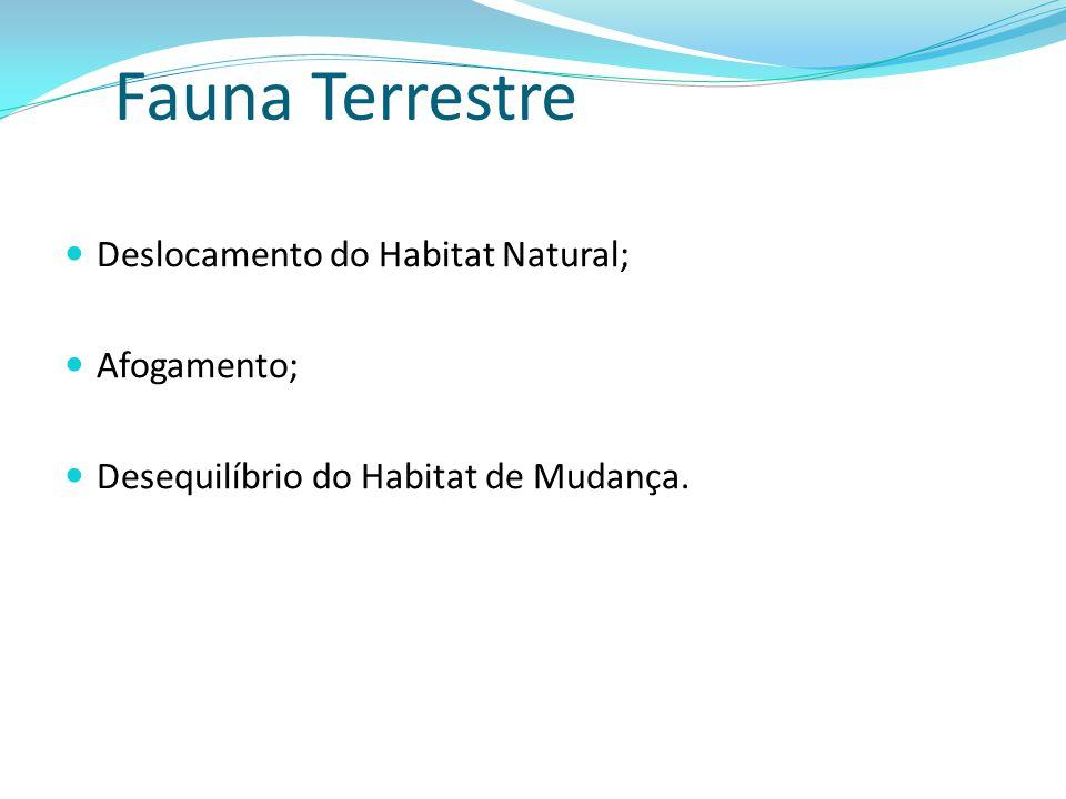 Fauna Terrestre Deslocamento do Habitat Natural; Afogamento;