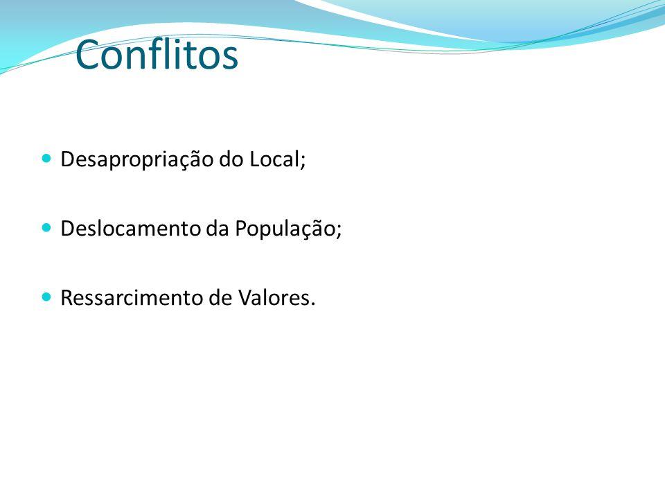 Conflitos Desapropriação do Local; Deslocamento da População;