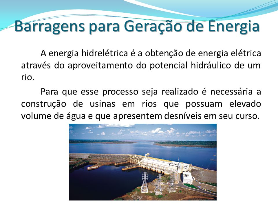 Barragens para Geração de Energia
