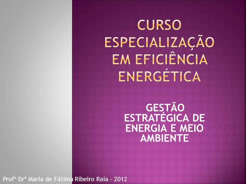 CURSO ESPECIALIZAÇÃO EM EFICIÊNCIA ENERGÉTICA