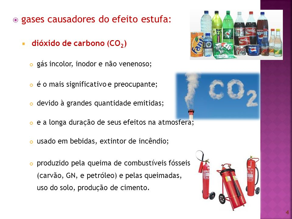 gases causadores do efeito estufa: