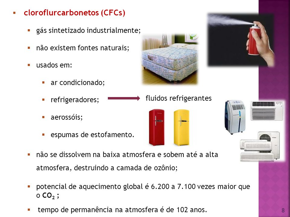 cloroflurcarbonetos (CFCs)