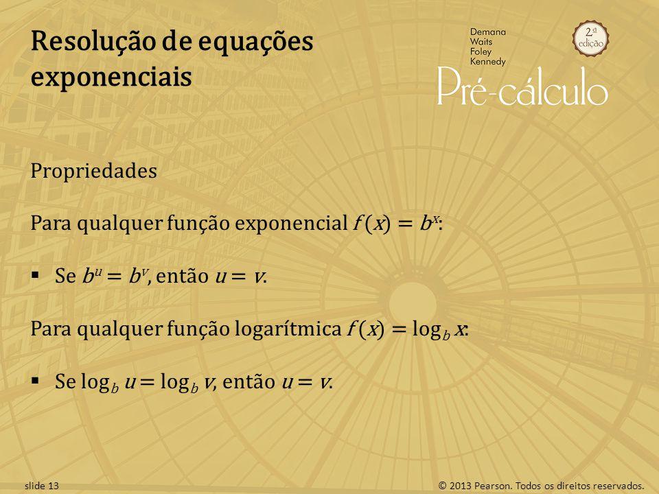 Resolução de equações exponenciais