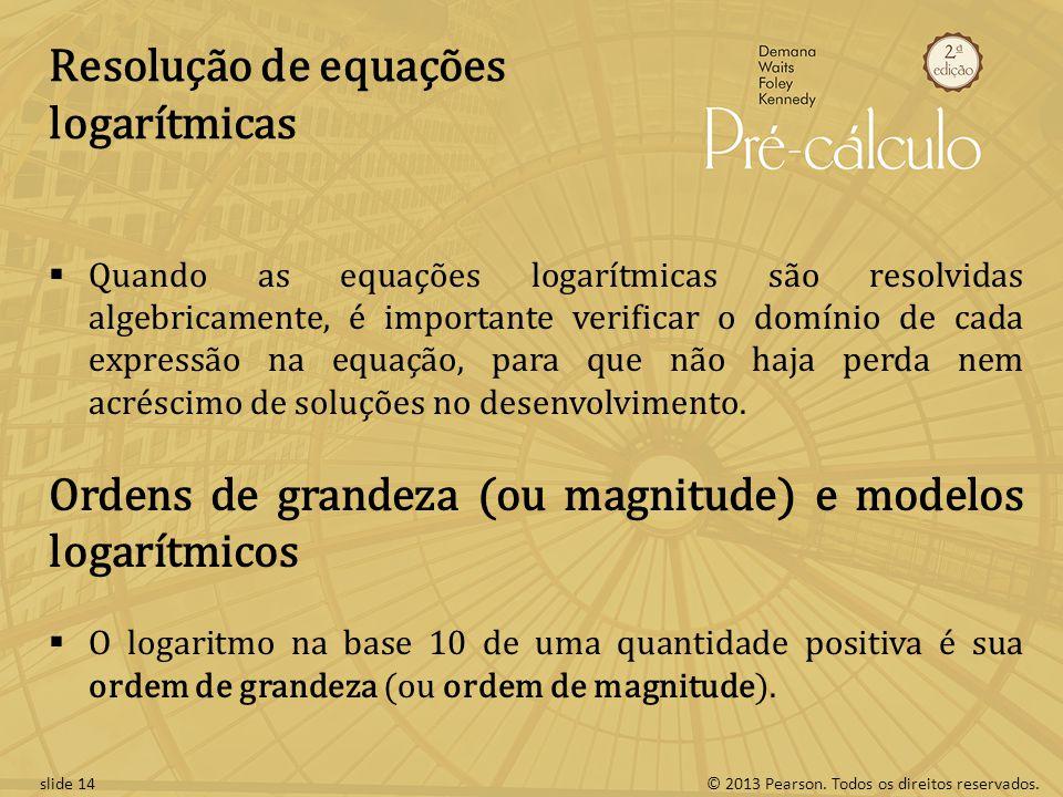 Resolução de equações logarítmicas