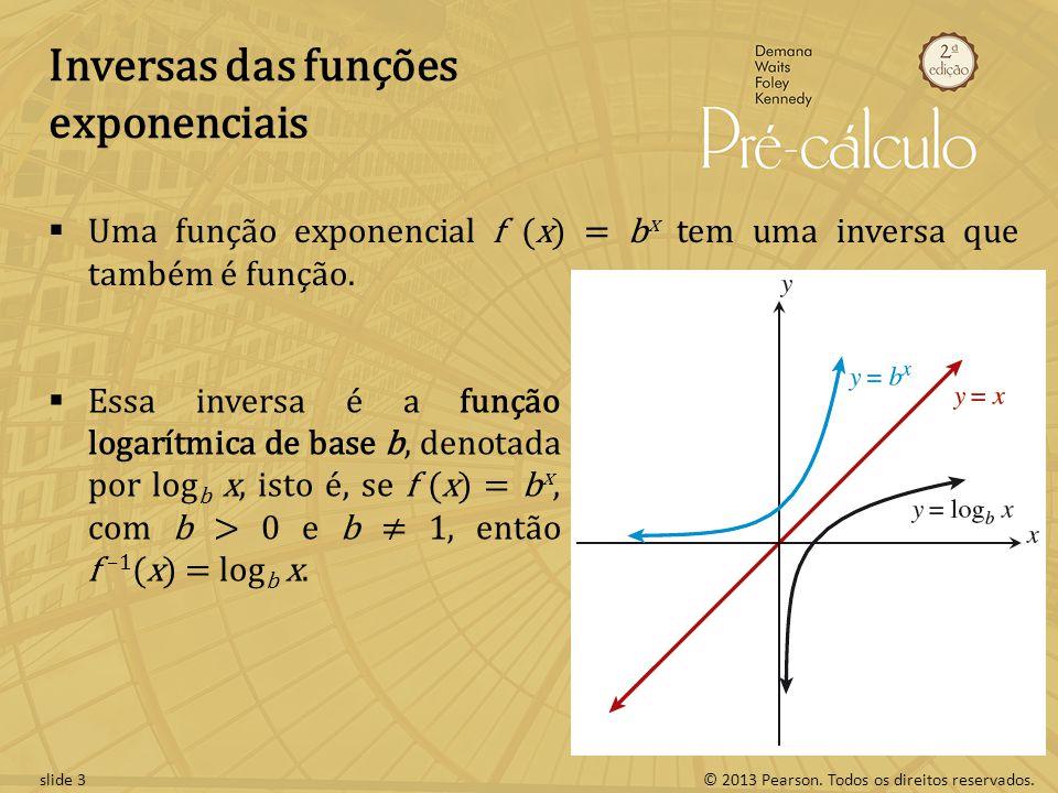 Inversas das funções exponenciais