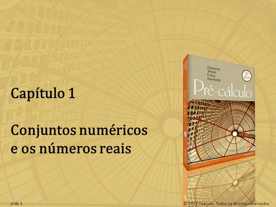 Conjuntos numéricos e os números reais