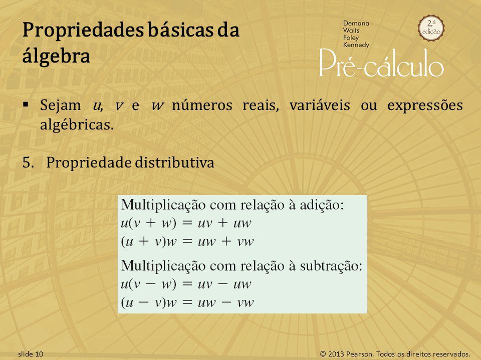 Propriedades básicas da álgebra