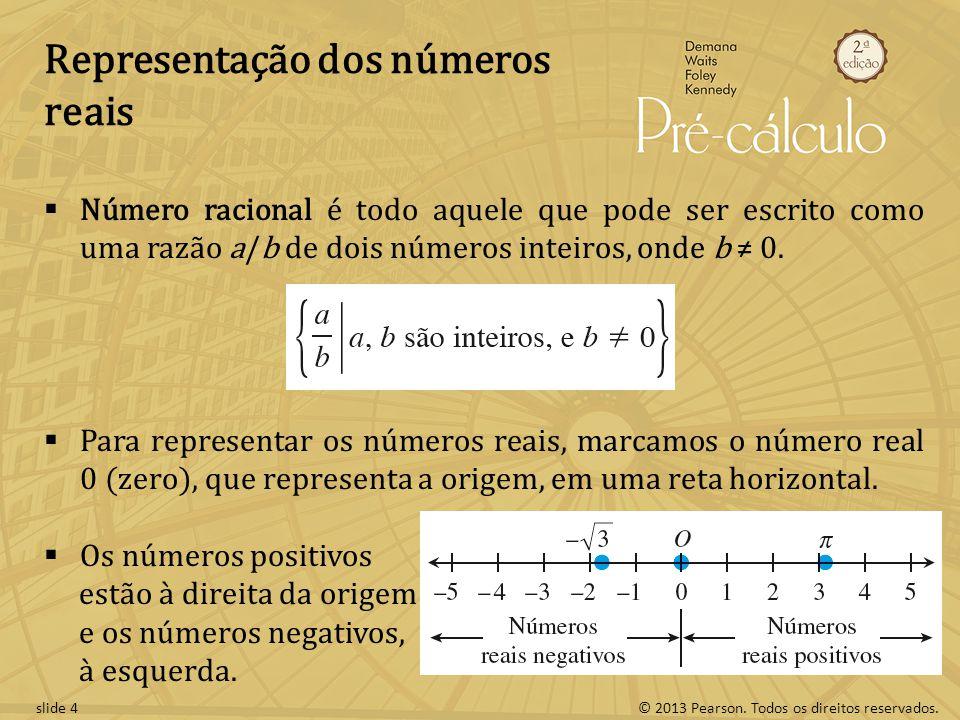 Representação dos números reais