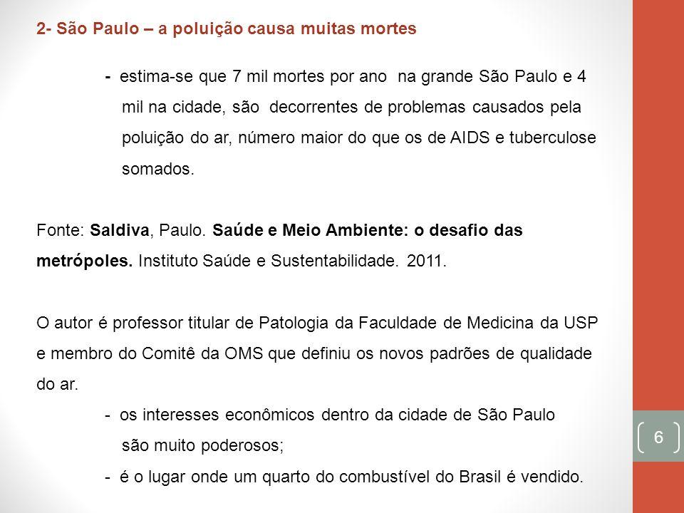 2- São Paulo – a poluição causa muitas mortes
