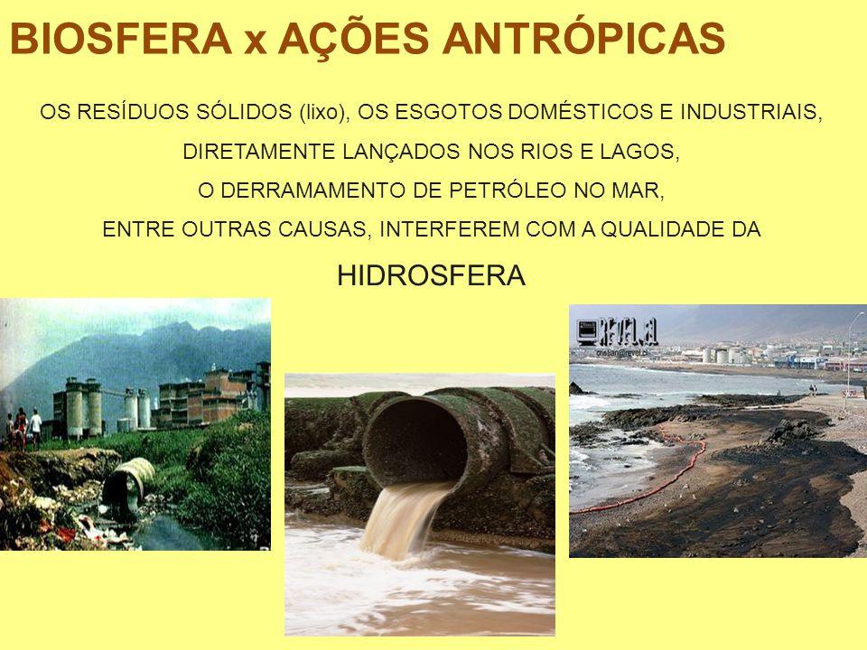 BIOSFERA x AÇÕES ANTRÓPICAS