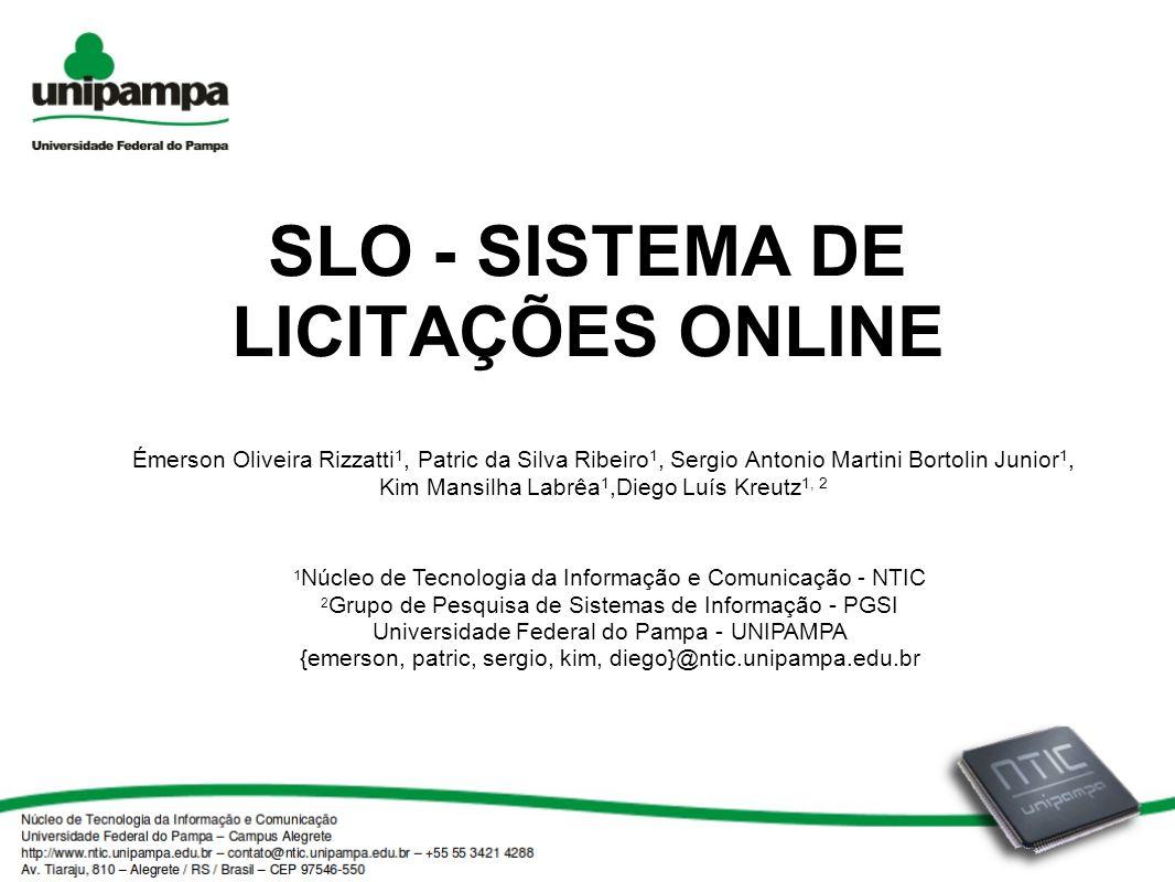 SLO - SISTEMA DE LICITAÇÕES ONLINE