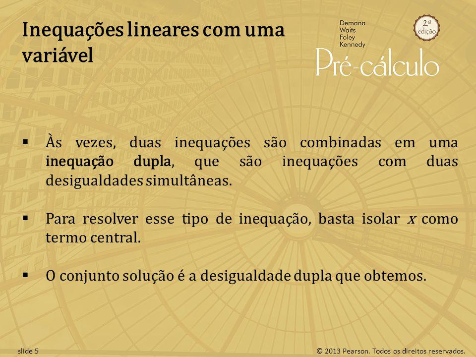 Inequações lineares com uma variável