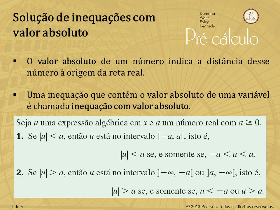 Solução de inequações com valor absoluto