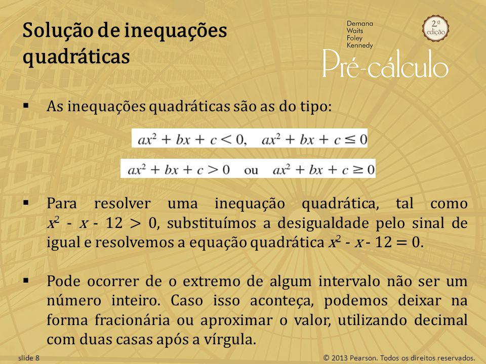 Solução de inequações quadráticas