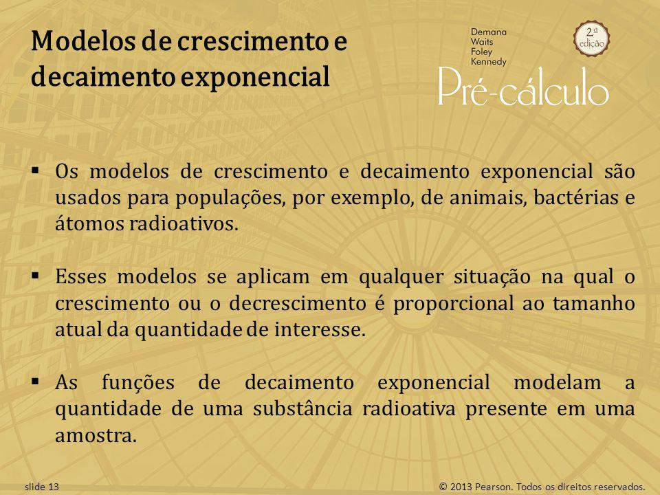 Modelos de crescimento e decaimento exponencial