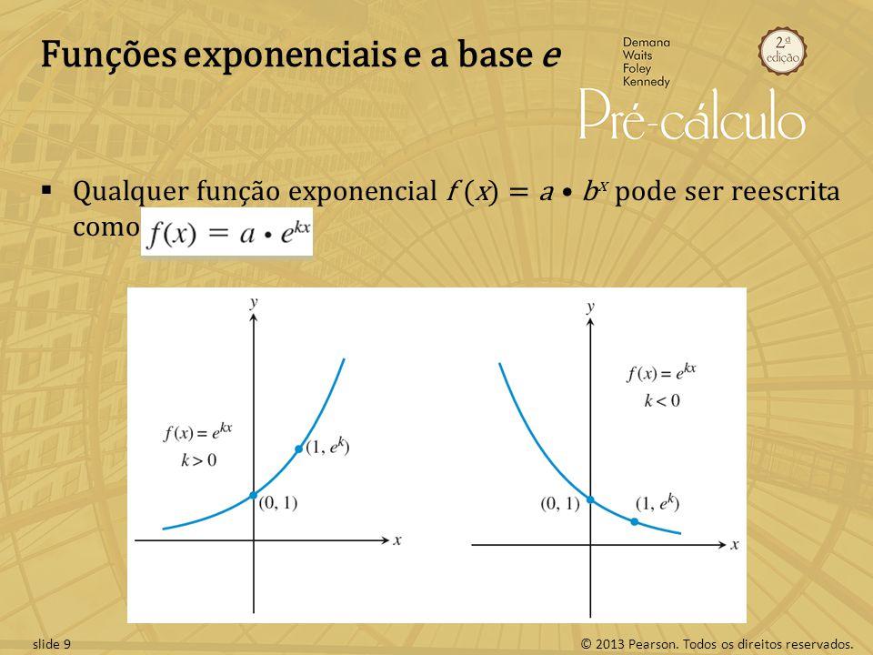 Funções exponenciais e a base e