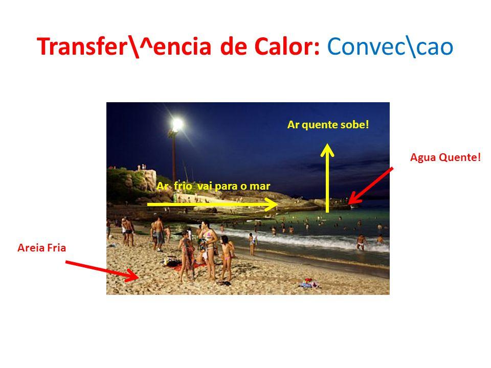 Transfer\^encia de Calor: Convec\cao