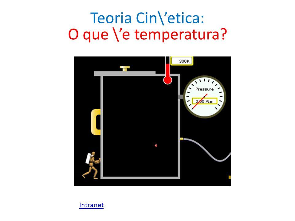 Teoria Cin\'etica: O que \'e temperatura Intranet