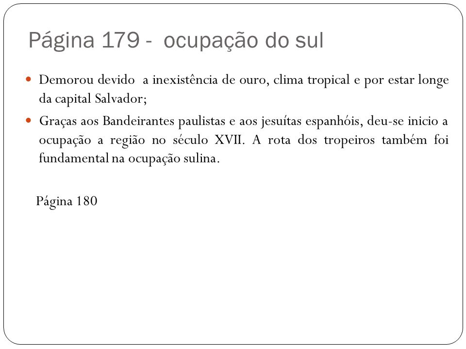 Página 179 - ocupação do sul