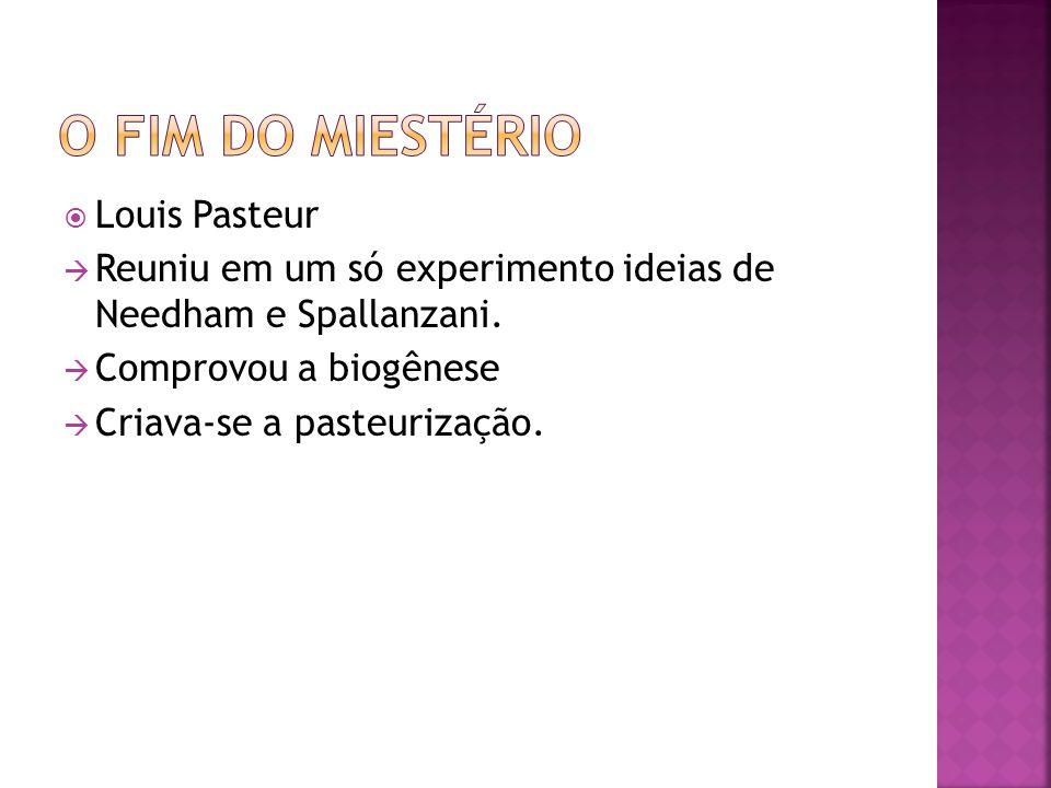 O fim do miestério Louis Pasteur