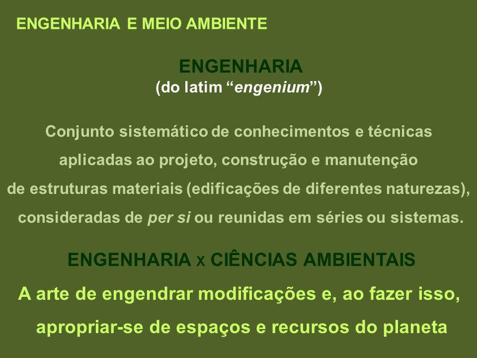 ENGENHARIA X CIÊNCIAS AMBIENTAIS