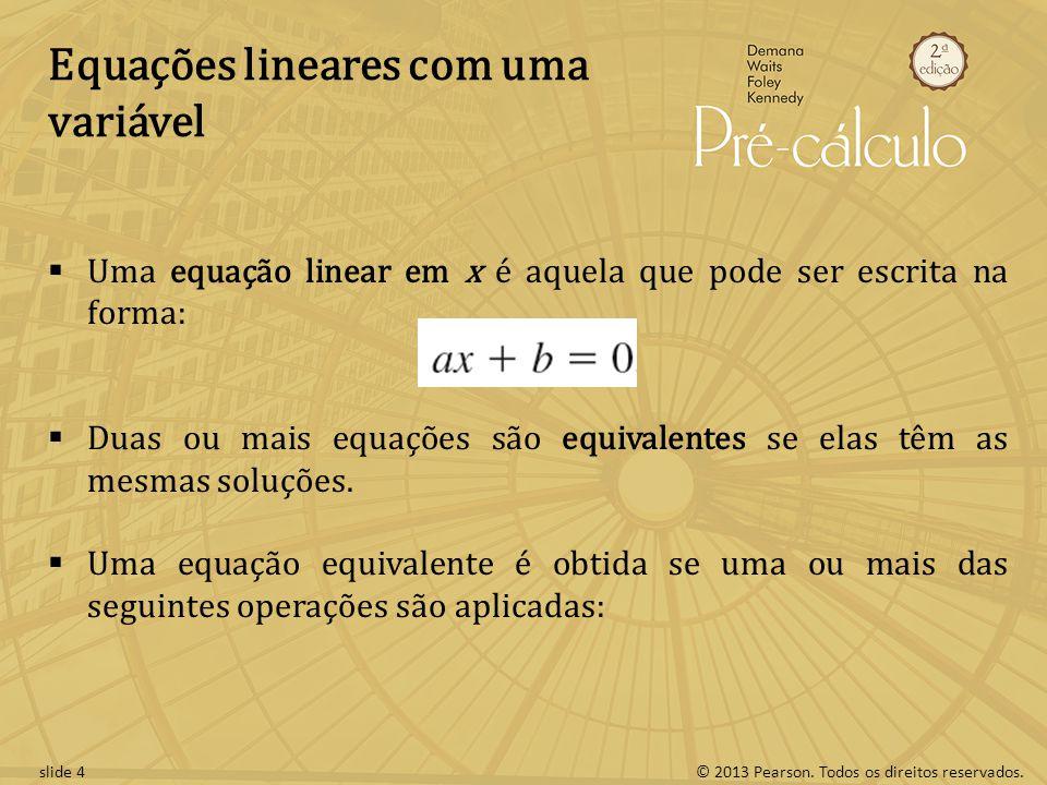 Equações lineares com uma variável