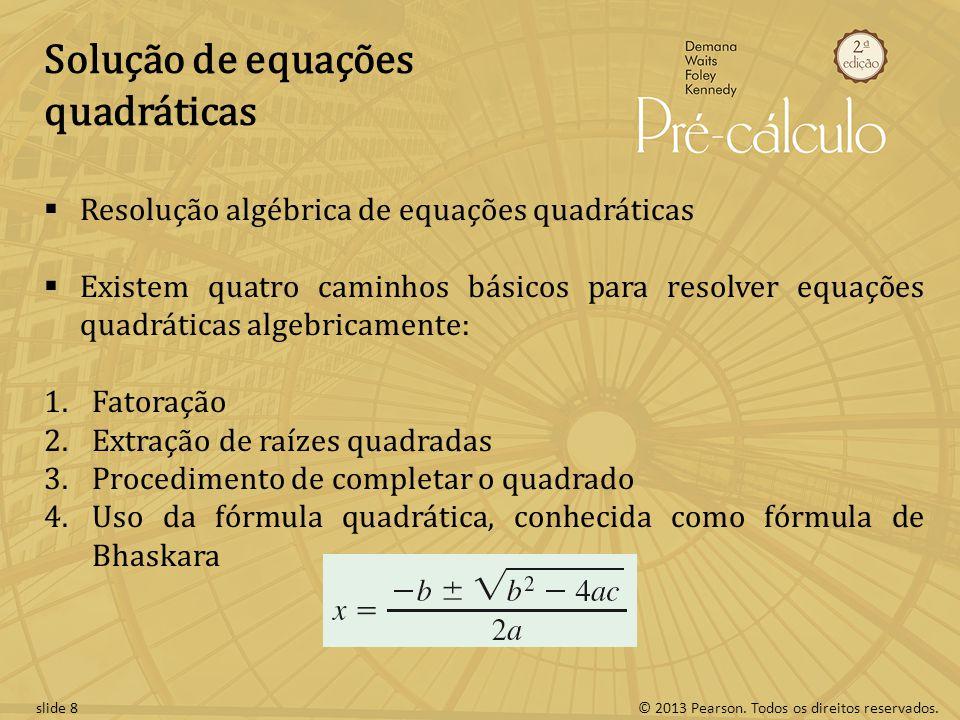Solução de equações quadráticas