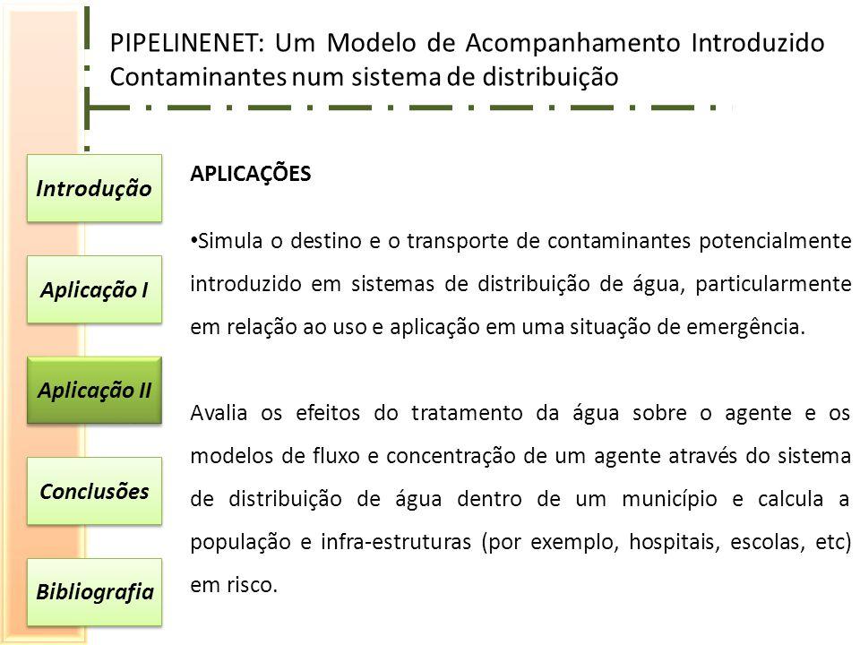 PIPELINENET: Um Modelo de Acompanhamento Introduzido Contaminantes num sistema de distribuição