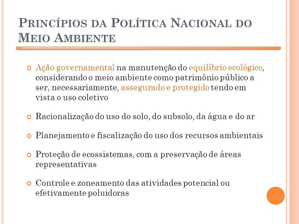 Princípios da Política Nacional do Meio Ambiente
