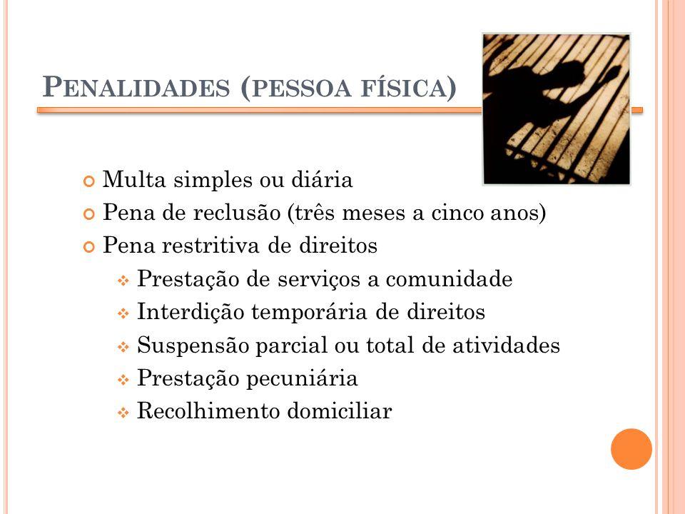 Penalidades (pessoa física)