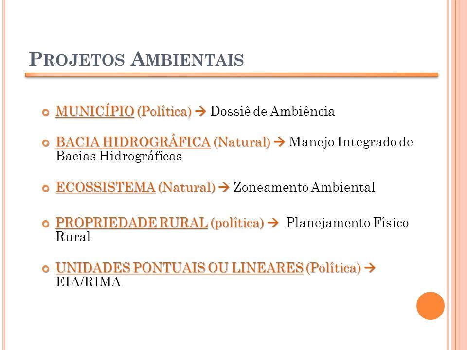 Projetos Ambientais MUNICÍPIO (Política)  Dossiê de Ambiência