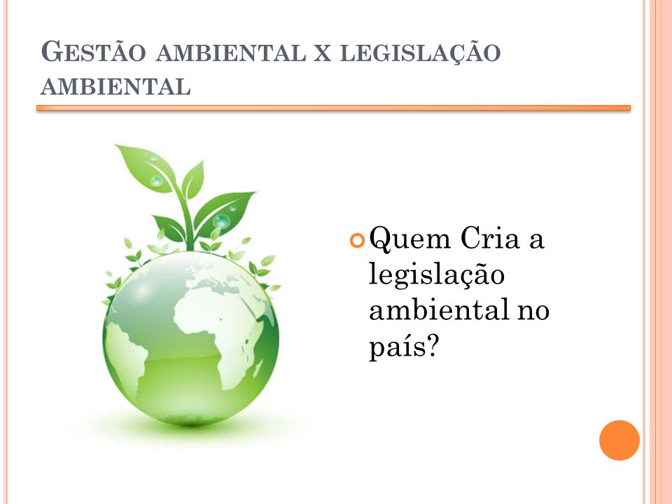 Gestão ambiental x legislação ambiental
