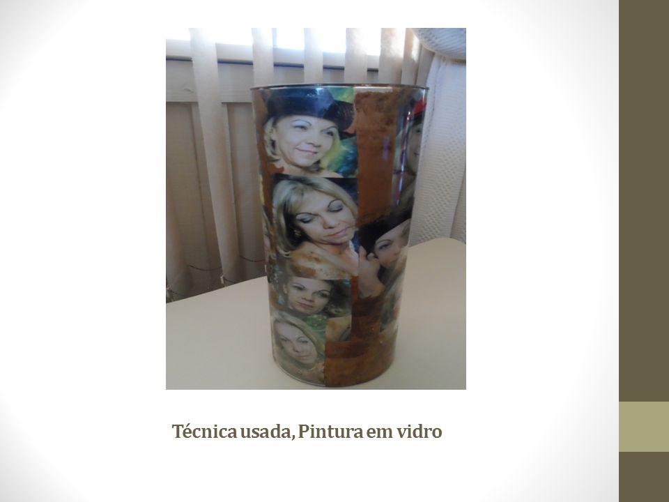 Técnica usada, Pintura em vidro
